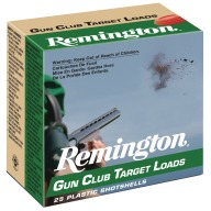 REMINGTON GUN CLUB 20ga 2.5dram 7/8oz 1200fps #7.5 250/cs