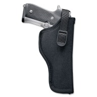 "UNCLE MIKES HIP HOLSTER BLK 7-8.5"" MD/LG DBL ACTN REV. LEFT"