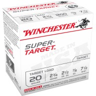 WINCHESTER SUPER-TGT 20ga 2.5d 7/8oz #7.5 250/cs