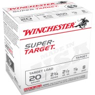WINCHESTER SUPER-TGT 20ga 2.5d 7/8oz #8 250/cs