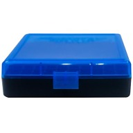 BERRY 380/9MM HINGED-TOP BOX 100-ROUND BLUE 50/cs