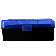 BERRY WSM HINGE-TOP BOX 50-ROUND BLUE/BLK 30/cs