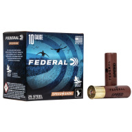 "FEDERAL AMMO 10ga 3.5"" STEEL 1450fps 1.5oz #BB 25b 10c"