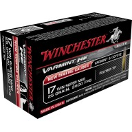 Winchester Ammo 17 WSM 25gr HE Varmint Poly Tip (50 per box)