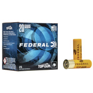 FEDERAL TOP GUN 20ga 2.5 DRAM 7/8oz 1210fps #9 250/cs