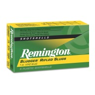 "REMINGTON SLUG 12ga 3"" 1760fps RIFLED 1oz 5/bx 50/cs"