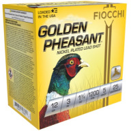 "FIOCCHI AMMO 12ga 3"" GP-NICKEL 1200fps 1.75oz #5 25b 10c"