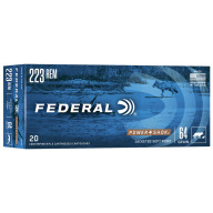 FEDERAL AMMO 223 REMINGTON 64gr JSP (P/S) 20/bx 10/cs