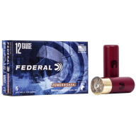 "FEDERAL SLUG 12ga 2.75"" MAXd 1oz HP-RIFLED 5/bx 50/cs"
