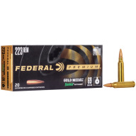 FEDERAL AMMO 223 REMINGTON 69gr SRA HPBT (G/M) 20/bx 10/cs