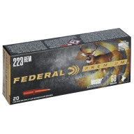 FEDERAL AMMO 223 REMINGTON 60gr NOSLER PART. (V/S) 20/bx 10/cs