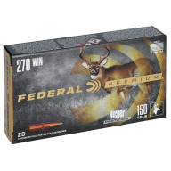 FEDERAL AMMO 270 WINCHESTER 150gr NOSLER-PART(V/S) 20/bx 10/cs