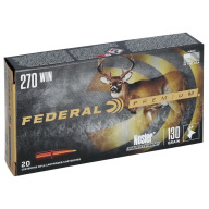 FEDERAL AMMO 270 WINCHESTER 130gr NOSLER-PART(V/S) 20/bx 10/cs