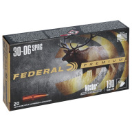 FEDERAL AMMO 30-06 SPR. 180gr NOSLER-PART(V/S) 20/bx 10/cs