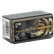 FEDERAL AMMO 17 HMR 17gr TNT (V/S) 50/bx 60/cs
