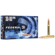 FEDERAL AMMO 30-06 SPR. 150gr COPPER (P/S) 20/bx 10/cs