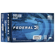 FEDERAL AMMO 223 REMINGTON 50gr JHP AM.-EAGLE 50/bx 5/cs