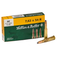 SELLIER & BELLOT AMMO 7.62x54R 180gr SP 20/bx 20/cs
