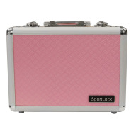 BIRCHWOOD-CASEY ALUMALOCK DBL HANDGUN CASE in PINK