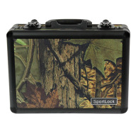 BIRCHWOOD-CASEY ALUMALOCK DBL HANDGUN CASE in CAMO