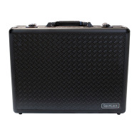 BIRCHWOOD-CASEY ALUMALOCK QUAD HANDGUN CASE, BLACK