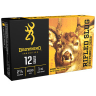 "Browning Slug Ammo 12ga 2.75"" 1oz Rifled Slug Box of 5"