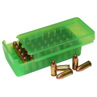 MTM PISTOL SIDE-SLIDE 50rd 9MM CLEAR GREEN 24/C