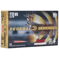 FEDERAL AMMO 270 WINCHESTER 130gr SWIFT SCIROCCO 20b 10c