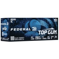 "FEDERAL TOP GUN 12ga 2-3/4"" 1-1/8oz 3DR #8 200/cs"