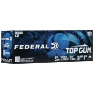 "FEDERAL TOP GUN 20ga 2-3/4"" 7/8oz 2.5DR #8 200/cs"